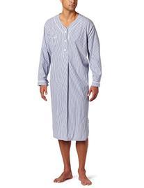 Majestic International Men's Bengal Stripe Nightshirt, Navy