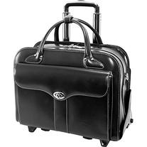 McKlein USA Berkeley Leather Rolling Laptop Tote EXCLUSIVE
