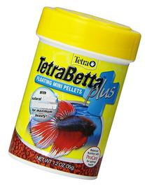 TetraBetta Plus Floating Mini Pellets, 1.2 oz