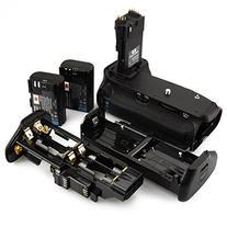 DSTE Pro BG-E14 Vertical Battery Grip + 2x LP-E6 LP-E6N for