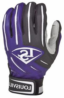 Louisville Slugger BG Series 5 Batting Glove, Purple, Large