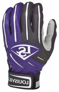 Louisville Slugger BG Series 5 Batting Glove, Purple, Large