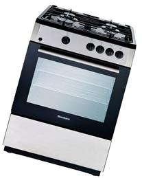 Blomberg BGR24100SS Gas Range with 4 Burners, 24-Inch,