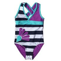 BHL Girls Swimsuit Striped 3-9 Years