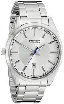 Citizen Men's Quartz Stainless Steel Watch with Date, BI1030