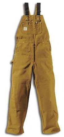 Bib Overalls, Brown, Size 38x32 In