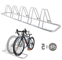 5 Bike Bicycle Floor Parking Rack Storage Stand by