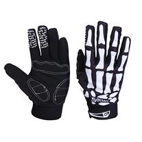 Bicycle Gloves Skeleton Pattern Full Finger Warm Bike Sports