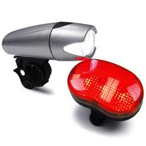 KABB Bicycle Light Set Super Bright 5 LED Headlight, 3 LED Taillight, Quick-Release