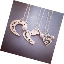 Big, Middle, Little Sister 3 Piece Set Personalized Necklace