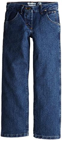Wrangler Big Boys' Advanced Comfort Jeans, Mid Stone, 16