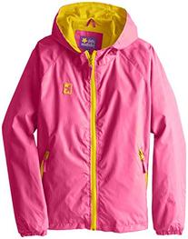 Pink Platinum Big Girls' Athletic Pop Jacket, Pink Glo, 7/8