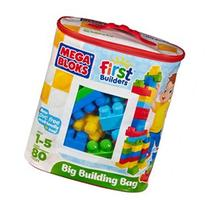 Mega Bloks Big Building Bag, 80-Piece