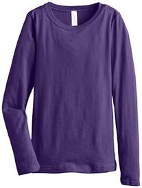 Clementine Big Girls' Everyday Long Sleeve Tee, Purple Rush,