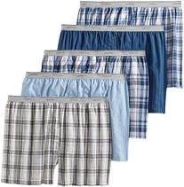 Fruit of the Loom Men's Big  Exposed Waistband Woven Boxers,