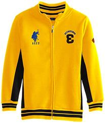 U.S. Polo Assn. Big Boys' Fleece Mock Neck Jacket with