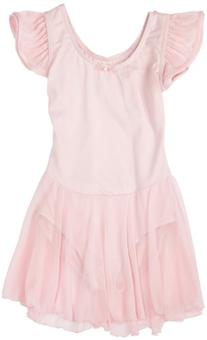 Capezio Big Girls' Flutter-Sleve Dress Leotard,Pink,L
