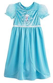 Disney Big Girls'  Frozen Dress Up Sleep Gown, Blue, Medium