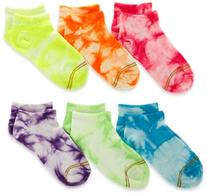 Gold Toe Big Girls'  6 Pack Liner Sock, Assorted Tie-Dye,