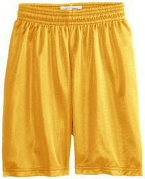 Soffe Big Boys' Nylon Mini Mesh Fitness Short, Light Gold,