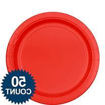 Big Party Pack Dinner Plates 9 50/Pkg-Apple Red