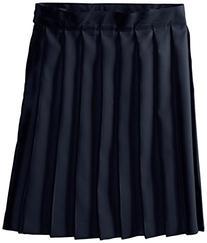 French Toast Big Girls' Pleated Skirt, Navy, 10