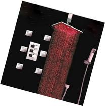 """GOWE Big Rainfall 16"""" LED Thermostatic Shower Faucet 6"""