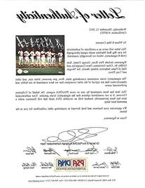 CINCINNATI REDS BIG RED MACHINE AUTOGRAPHED 8X10 PHOTO WITH