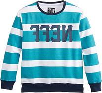 Neff Big Boys' Rex Pullover Sweatshirt, Blue, Medium