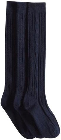 Jefferies Socks Big Girls'  School Uniform Acrylic Cable