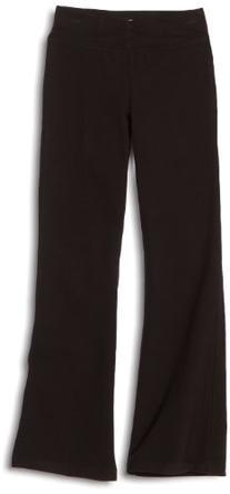 Danskin Big Girls' Shirred Waist Bootleg Pant, Black, Large