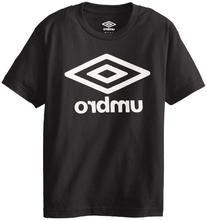 UMBRO Big Boys' Short Sleeve Logo Front Only Screen, Black,