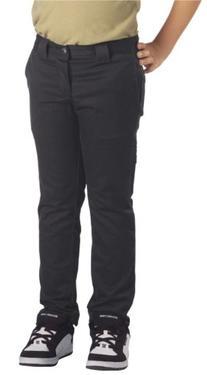 Dickies Big Boys' Skinny Straight Pant, Black, 8