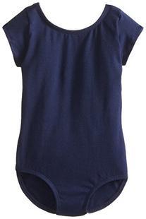 Capezio Little Girls' Classic Short Sleeve Leotard,Black,T