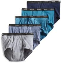 Fruit of the Loom Men's Big  Stripe Solid Brief - Colors May