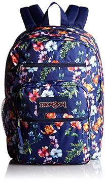Jansport Big Student Backpack in Multi Navy Mountain Meadow