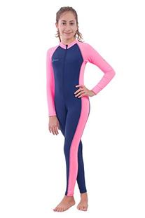 Girls Full Body Swimsuit UV Protection Swimwear Chlorine