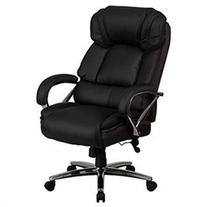 500 lb. Capacity Big & Tall Black Leather Executive Swivel