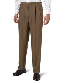 Haggar Men's Big-Tall Expandable Waistband Repreve Stria