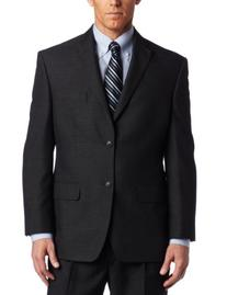 Haggar Men's Big And Tall Tonal Windowpane 2 Button Suit