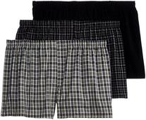 Hanes Men's Big 3-Pack Woven Boxers - Sizes, Assorted, XXX-