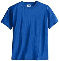 Russell Big Boys' Youth Nublend T-Shirt, Royal, Medium