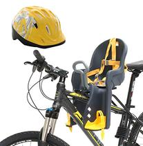 Bike Front Baby Seat Carrier with Handrail and Helmet