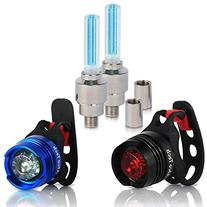 Bike Light - Front and Rear Aluminum LED Bike Light Set - 2