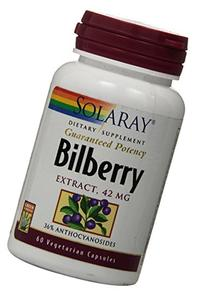 Solaray Bilberry Extract, 42mg, 60 Count