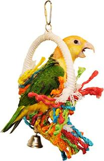 """Preen & Swing"" Bird Toy - Stimulates Healthy Exercise and"