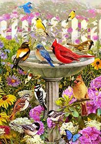 Birdbath Friends - Decorative Standard Size 28 X 40 Inch