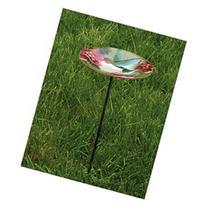 EverGreen Enterprises Birdbath Stake HumBird Glass