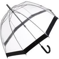 Fulton Birdcage Domed Umbrella, Black