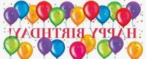 Birthday Balloons 60 x 20 Giant Party Banner 6 Ct